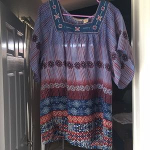 Beautiful boho hippy blouse art and soul med
